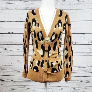 Mossimo Leopard Print Button Up Cardigan